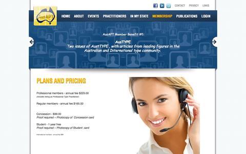 Screenshot of Pricing Page ausapt.org.au - AusAPT | Pricing - captured Oct. 4, 2014