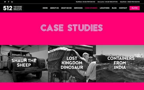 Screenshot of Case Studies Page 5-1-2.com - Case Studies | 512 - captured Oct. 19, 2018