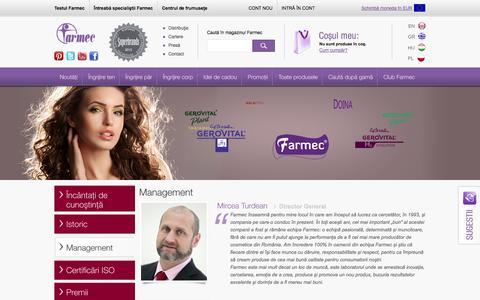 Screenshot of Team Page farmec.ro - Management - captured Sept. 24, 2014