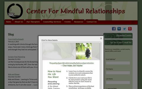 Screenshot of Blog cfmrsandiego.com - Blog | Mental Health, Psychology, Psychotherapy | CFMR - captured Jan. 26, 2016