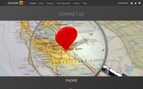 Screenshot of Contact Page marseilleinc.com - Contact Marseille Inc. - captured Oct. 17, 2018