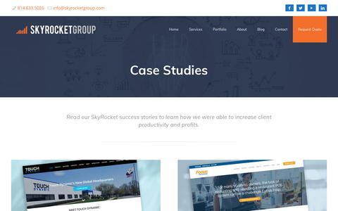 Screenshot of Case Studies Page skyrocketgroup.com - Case Studies | SkyRocket Group - captured Sept. 20, 2018