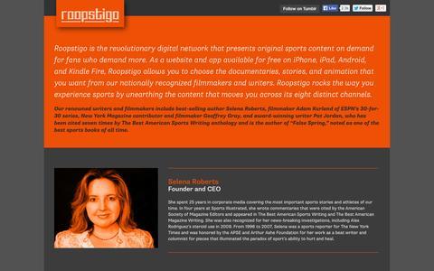 Screenshot of About Page roopstigo.com - About Us - roopstigo - captured Oct. 9, 2014
