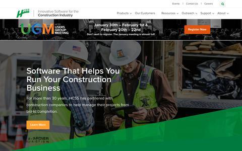 Construction Software | HCSS Software