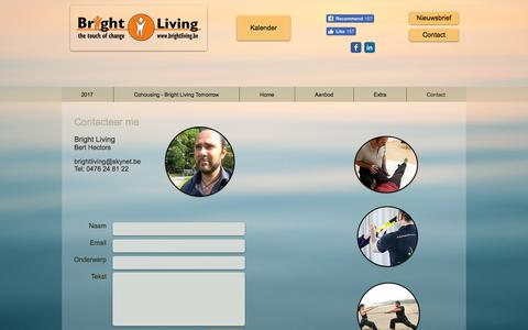 Screenshot of Contact Page brightliving.be - brightliving | Contact - captured Jan. 9, 2018