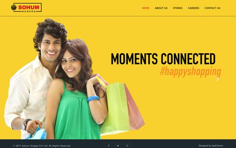 Screenshot of Home Page sohumshoppe.com - Online Shopping India - Shop for clothes, shoes, Bags, watches @ sohumshoppe.com - captured Dec. 26, 2017