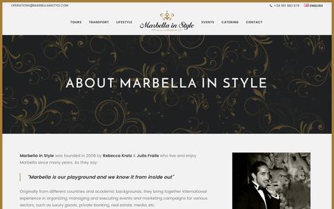Screenshot of About Page marbellainstyle.com - About Us - Marbella in Style - captured June 9, 2017