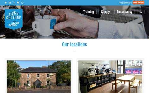 Screenshot of Contact Page coffeeculture.ie - Contact Us | Coffee Culture Barista Academy - captured July 20, 2018