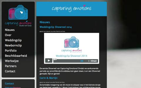 Screenshot of Home Page capturingemotions.nl - Capturing Emotions - captured Sept. 29, 2014