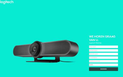 Screenshot of Landing Page logitech.com - Logitech MeetUp | Contact Us - captured Sept. 11, 2017