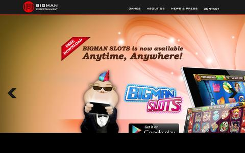 Screenshot of Home Page bigmanent.com - BIGMAN Entertainment, Inc - captured Oct. 1, 2015