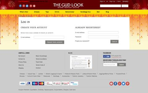 Screenshot of Signup Page Login Page thegudlook.com - Authentication - thegudlook - captured Oct. 26, 2014