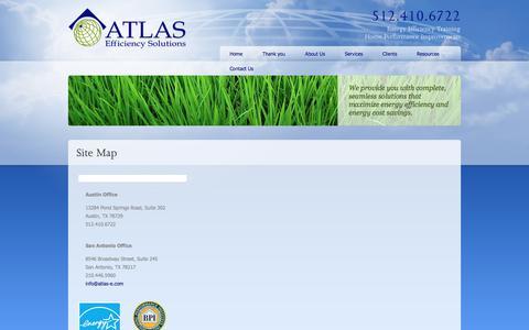 Screenshot of Site Map Page atlas-e.com - Site Map - captured Oct. 9, 2017