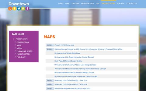 Screenshot of Maps & Directions Page downtownlinks.info - Maps | Downtown Links - captured June 8, 2016