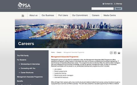Screenshot of Maps & Directions Page singaporepsa.com - Management Associate Programme - captured Oct. 1, 2014