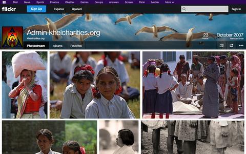 Screenshot of Flickr Page flickr.com - Flickr: khelcharities.org's Photostream - captured Oct. 23, 2014