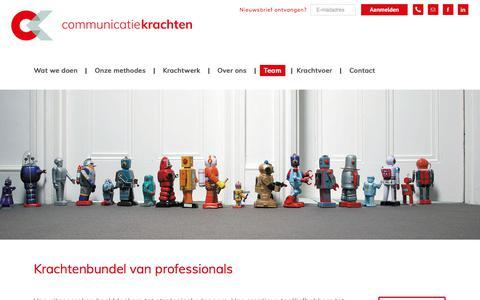 Screenshot of Team Page communicatiekrachten.nl - Team | communicatiekrachten - captured July 19, 2018