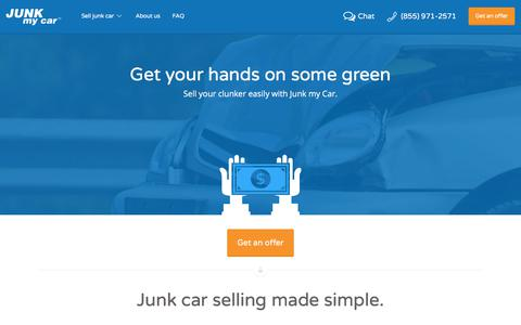 Screenshot of Home Page junkmycar.com - Sell Your Junk Car Instantly   Junk my Car - captured June 8, 2017