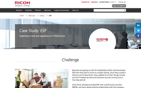 Screenshot of Case Studies Page ricoh-usa.com - ESP - captured Jan. 3, 2019