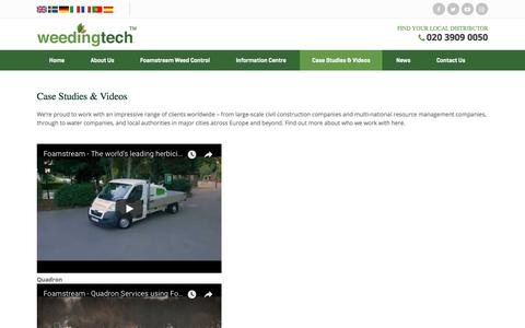 Screenshot of Case Studies Page weedingtech.com - Case Studies & Videos - Weeding Tech - captured Oct. 20, 2017