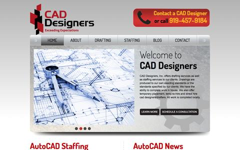 Screenshot of Home Page cad-designers.com - CAD Designers | Drafting Services | CAD Staffing Services| Autocad Drafting | CAD Drafting - captured Oct. 16, 2016