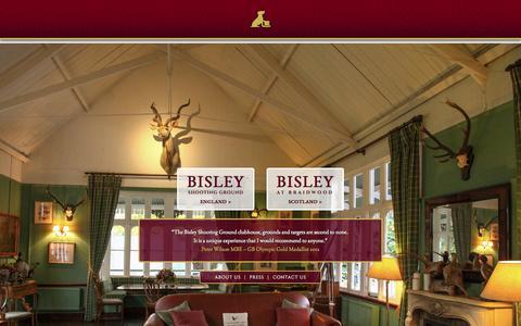 Screenshot of Home Page bisleyshooting.co.uk - Clay Shooting | Bisley Shooting - captured Oct. 5, 2014
