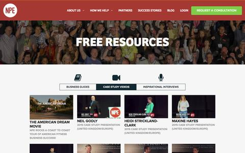 Screenshot of Case Studies Page netprofitexplosion.com - Free Resources   Net Profit Explosion - captured Nov. 17, 2015