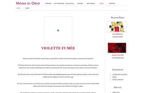 Screenshot of Blog Press Page monadiorio.com - Mona di Orio » News - captured Oct. 26, 2014