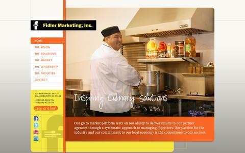Screenshot of Home Page fidlermarketing.com - Home - Fidler Marketing, Inc. :: Fidler Marketing, Inc. - captured Sept. 30, 2014
