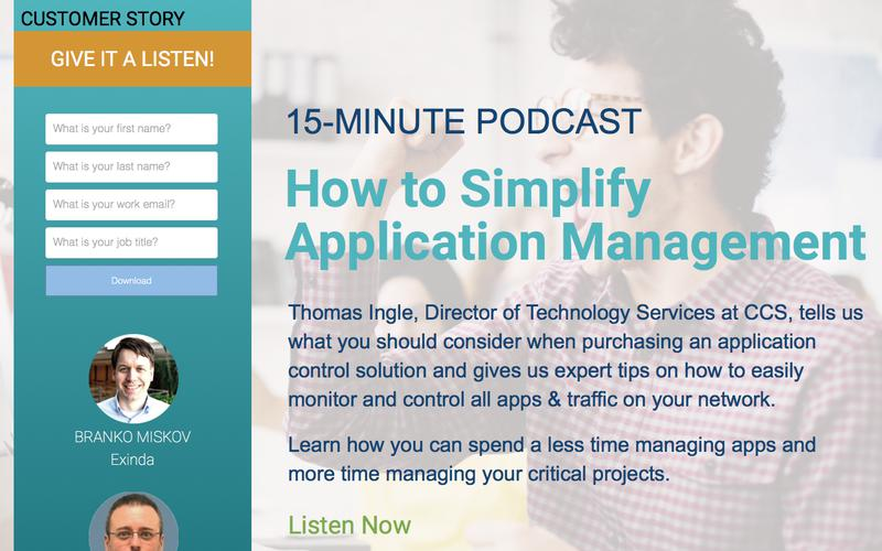 How to Simplify Application Management | Exinda Podcast