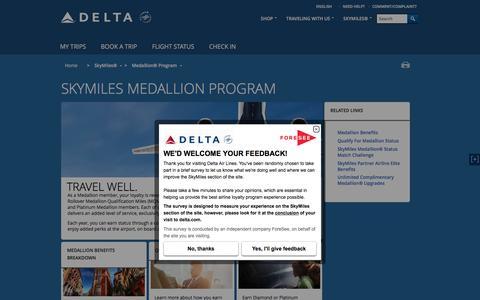 Medallion® Program : Delta Air Lines