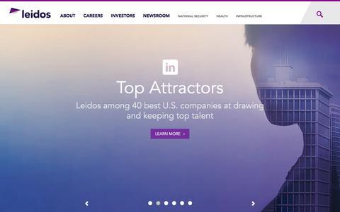 Screenshot of Home Page leidos.com - www.leidos.com | - captured July 26, 2016
