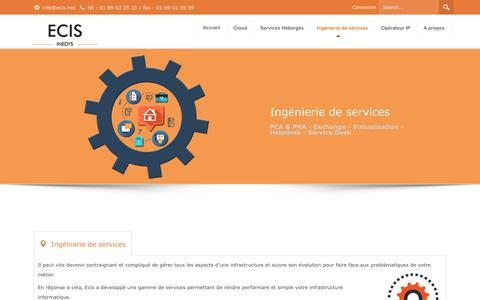 Screenshot of Services Page ecis.net - Ingénierie de Services & helpdesk – Ecis.net - captured Sept. 19, 2017