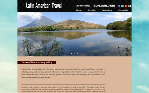 Screenshot of Terms Page latinamericantravel.ca - latinamerican | Terms of use - captured July 16, 2018