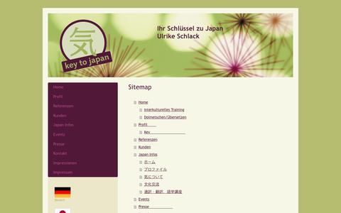 Screenshot of Site Map Page key-to-japan.com - Interkulturelles Training Japan, Japanisch Dolmetschen, Japanisch Übersetzen, - captured June 9, 2017