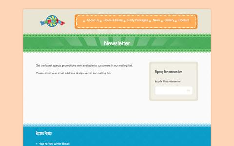 Screenshot of Signup Page hopnplay.com captured Dec. 12, 2015