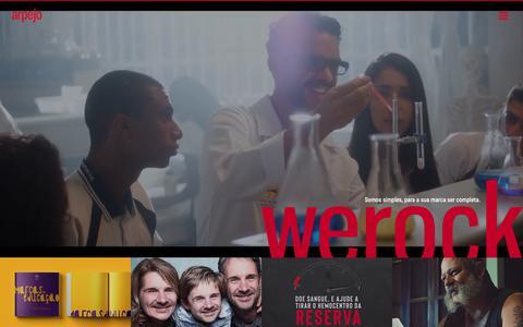 Screenshot of Home Page arpejo.com.br - Agência de Publicidade e Propaganda: Arpejo Comunicação - captured Nov. 12, 2018
