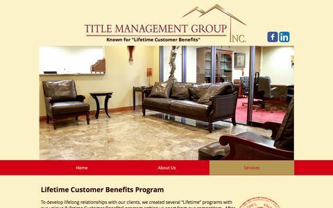 Screenshot of Services Page titlemg.com - title-management | Services - captured Oct. 28, 2017