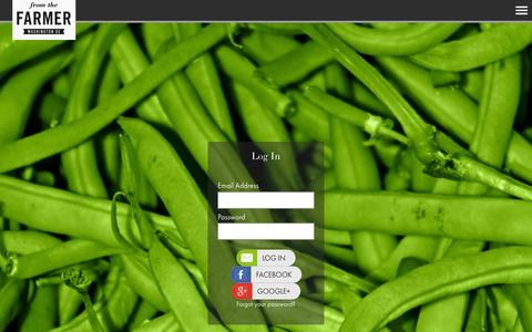 Screenshot of Login Page fromthefarmerdc.com - From the Farmer - captured Sept. 26, 2015