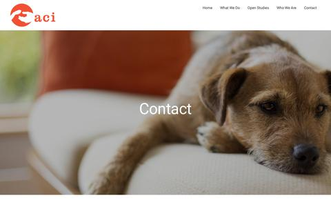 Screenshot of Contact Page animalci.com - Contact - Animal Clinical Investigation - captured Oct. 8, 2017