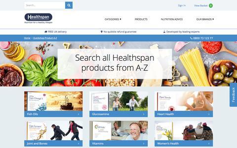 Healthspan Products  Quickshop Product AZ