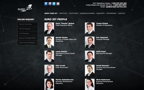 Screenshot of Team Page eurojet-service.com - People | Euro Jet - captured Oct. 3, 2014