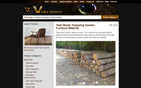 Screenshot of Blog vixidesign.com - Project Gallery | Indonesian Luxury Hotel Furniture Manufacturer NeoClassic Baroque Style Designer - captured Oct. 7, 2014