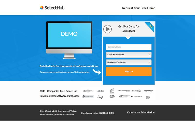 Get Demo Information for Salesboom