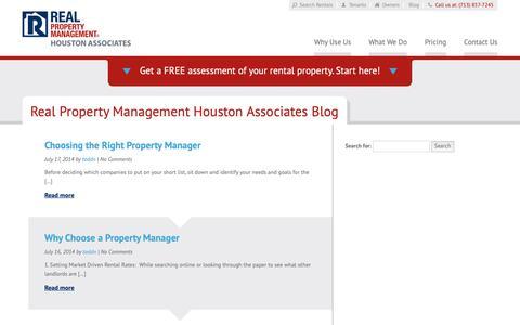 Screenshot of Blog rpmhoustonassociates.com - Houston TX Property Management Blog   Real Property Management Houston Associates - captured Oct. 18, 2018