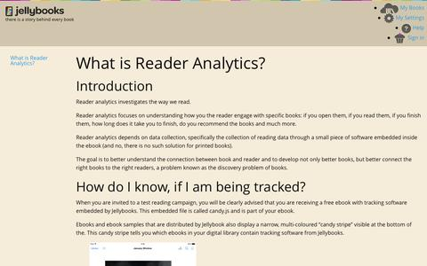 Jellybooks - What is Reader Analytics?  - Pages