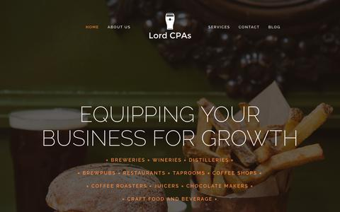 Screenshot of Home Page lordcpas.com - Home - captured Sept. 30, 2018