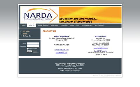 Screenshot of Contact Page narda.com - NARDA - Contact Us - captured Oct. 19, 2018