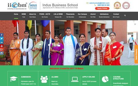 Screenshot of Home Page iiebm.com - Best Management Institute | PGDM Institutes in Pune, India | IIEBM - captured Oct. 15, 2017