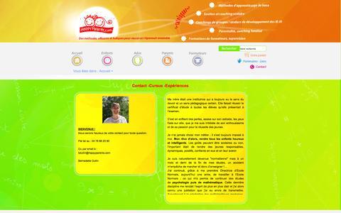 Screenshot of Contact Page happyparents.com - Contact bio - captured Sept. 26, 2014